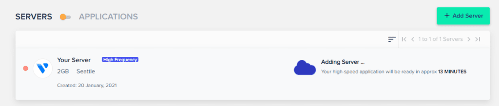 Adding server to Cloudways