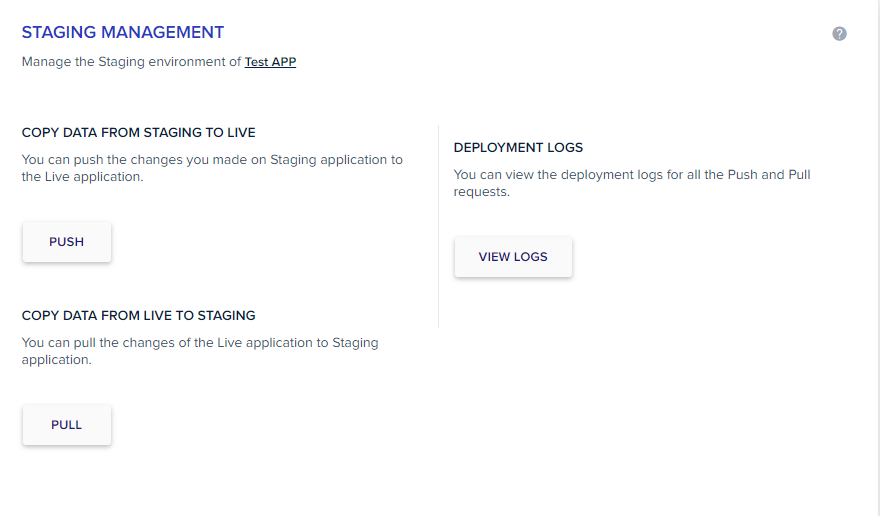 Staging management in Cloudways