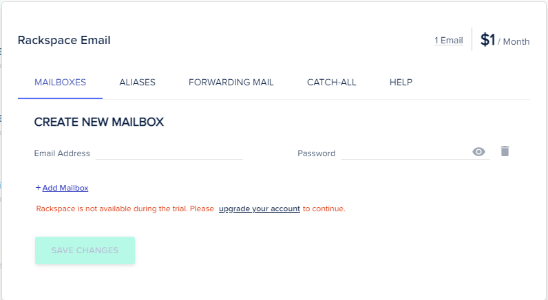 How to create mailbox in Cloudways