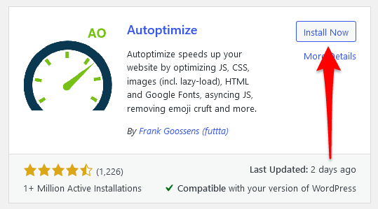 install Autoptimize plugin