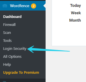 how to navigate to Wordfence Login Security
