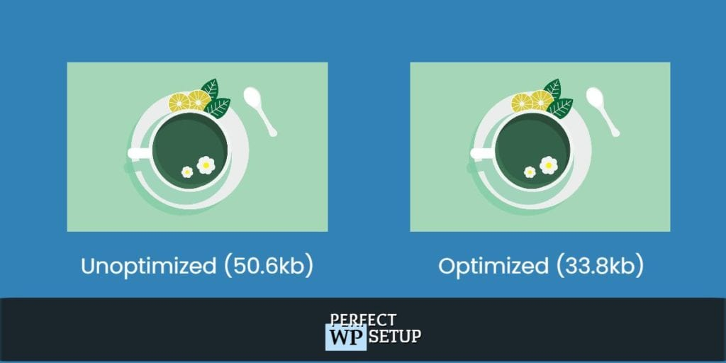 the differences between an unoptimized and optimized image